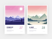 Illustration design beautiful scenery2