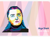 Maisie Williams WPAP Portrait