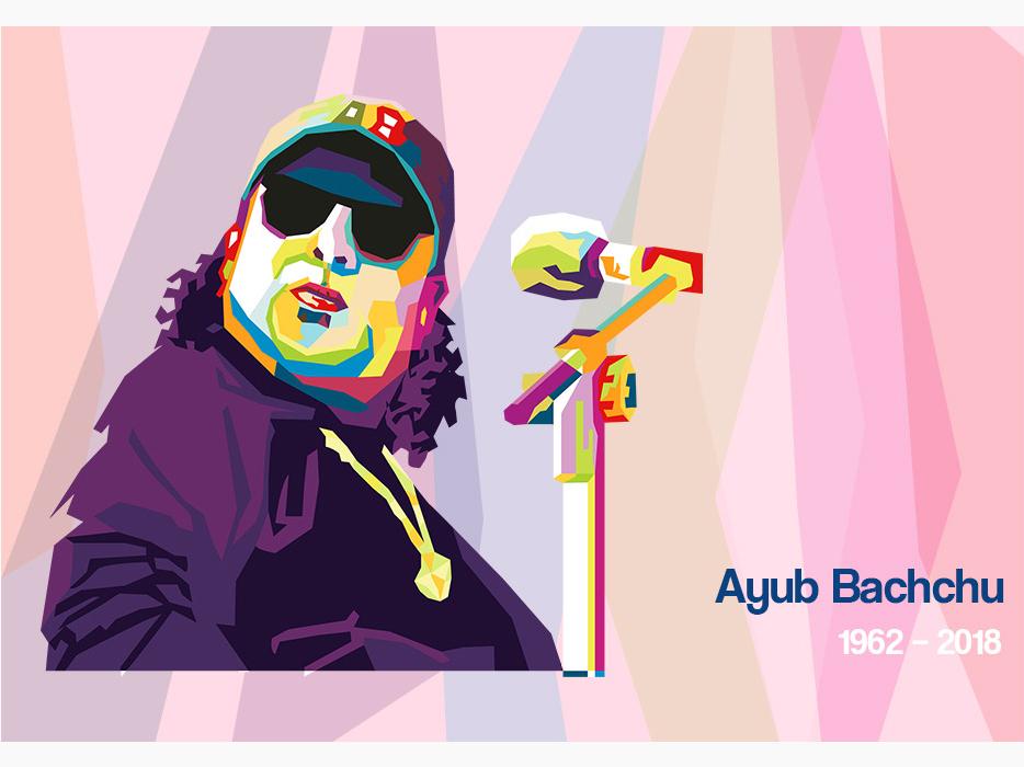 WPAP Portrait of Ayub Bachchu avatar color illustration digitalart vector portrait wpap