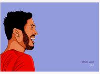 Cartoon Portrait - DJ Asif (Smartphone Drawing)