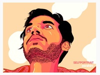 Cartoon Portrait - AS Rahim (selfportrait)