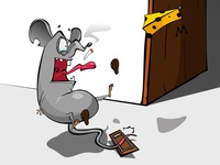 Unlucky mouse