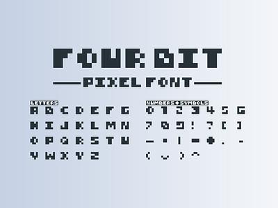 4Bit Pixel Font font family fonts pixel art brick block font design font digital retro gaming video game bit 4bit pixel
