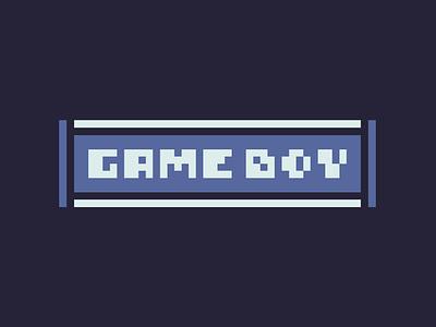 Pixel font example idea brand gaming video game lockup logo font gameboy pixel