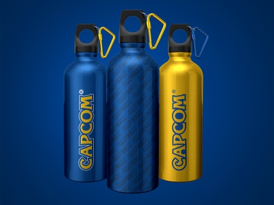 Capcom Water Bottle Design hydro flask gaming video games branding flask brand hydro water hydroflask water bottle capcom