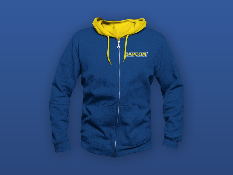 Capcom Hoodie Design video game videogame gamer gaming sweatshirt branding hoodie design hoodie
