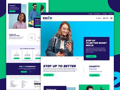 ExciteCU Website design digital webdesigner webdesigns landing page excite cu excite cu excite credit union excite credit union marketing ux ui branding web web design website webdesign