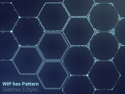 WIP Hex pattern sketches