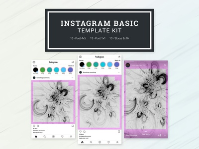 Instagram Basic Template Kit