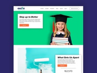 excite credit union home page mock up