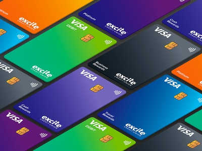 Excite Credit Union Credit Card Design