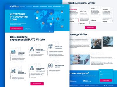 Virtvox IP telephony — landing page