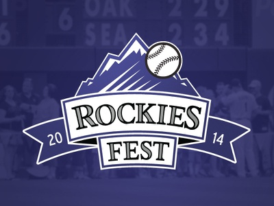 Rockies Fest colorado rockies purple design logo baseball sports colorado rockies