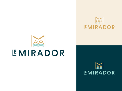 Le Mirador branding brand visual  identity logo