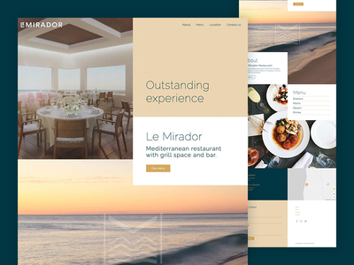 Landing page Le Mirador website landing page