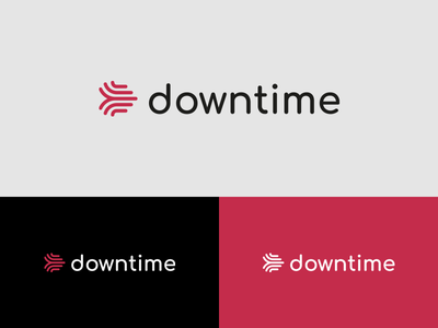 Downtime corporate branding brand logotype visual  identity logo