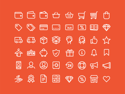 Shopping Icons for free solid icons thin icons line icons icons