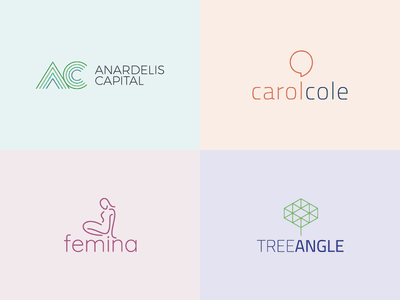 Line logos visual  identity line logotype logo