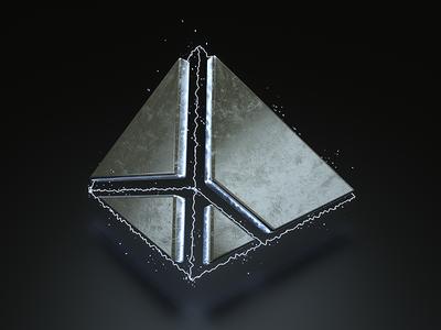 Visualization logo v3 digital art metal 3d visualization modeling octane render cinema4d