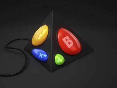 Visualization logo v5 xbox visualization render octane modeling metal digital art cinema4d 3d