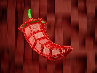 Red hot Inflatable pepper visual x-particles cinema 4d c4d octane 3d digital art cgi cg event cg logo