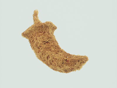 Spaghetti pepper visual x-particles cinema 4d c4d octane 3d digital art cgi cg event cg logo