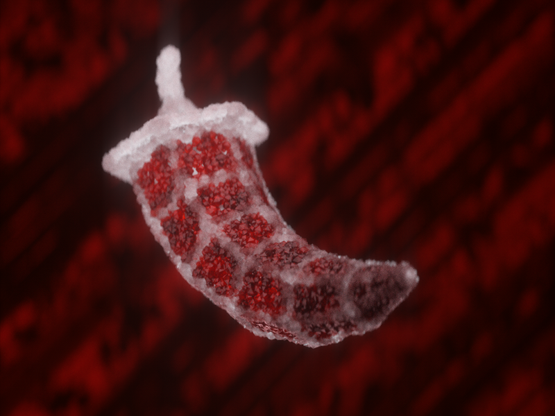 Ruby pepper visual x-particles cinema 4d c4d octane 3d digital art cgi cg event cg logo
