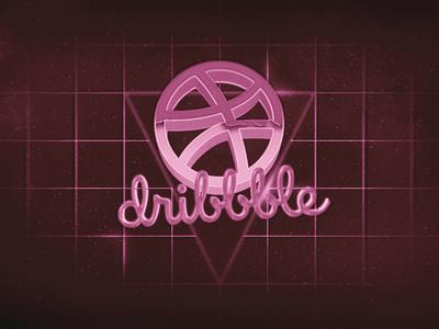 Retro Dribbble project photoshop after effects 3d logo dribbble retro