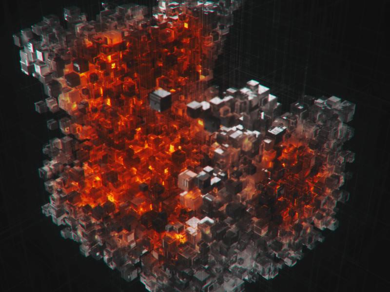 Cubes design render modeling x-particles visual c4d cgi octane digital art 3d