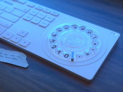 When was DTMF keypad invented? modeling pad keyboard logo design ui render 3d octane c4d digital art