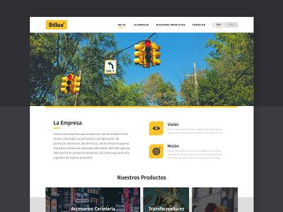 Stilux Website branding ui  ux ui home page desktop landing redesign webos design diseño gráfico graphic design