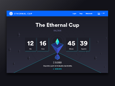 Ethernal Cup Web - Countdown diseño web ethereum crypto currency user experience design user interface design dapp web design uba design diseño gráfico graphic design