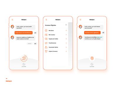 Melani - Online Banking Chatbot web design diseño web user interface design user experience design app concept online banking chatbot uba design diseño gráfico graphic design