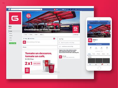 GEA - Gas Station - Social Media estación de servicios service station fuel gas station facebook redes sociales social media marca diseño logo branding uba design diseño gráfico graphic design