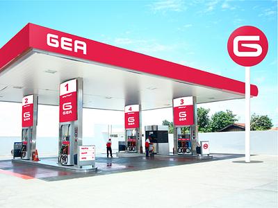 GEA - Gas Station - Visual Identity brand visual identity estación de servicios service station fuel gas station marca diseño de logo logo design logo branding uba design diseño gráfico graphic design
