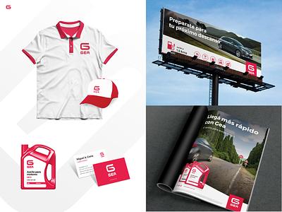 GEA - Gas Station - Visual Identity brand aplicación de marca visual identity nafta estación de servicios service station gas station fuel logo branding uba design diseño gráfico graphic design