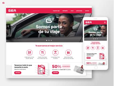 GEA - Gas Station - Web Design