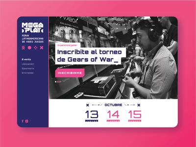 Megaplay - Latin American videogame fair web design