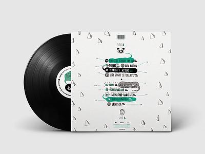Vinyl Design - Panda Bear - Tomboy (Back) cover artwork cover design vinyl cover vinyl music typography illustration marca logo uba design diseño gráfico graphic design