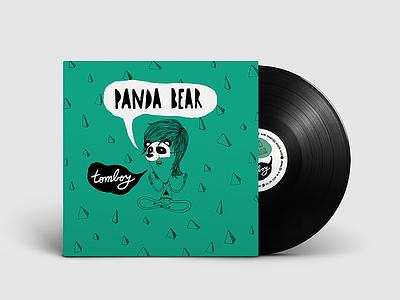 Vinyl Design - Panda Bear - Tomboy (Front) cover art cover artwork cover design cover vinyl cover vinyl music illustration typography brand branding uba design diseño gráfico graphic design