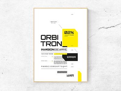Orbitron Type Specimen type specimen editorial design typography morfología morphology uba design diseño gráfico graphic design