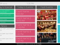 Dashboard news past events