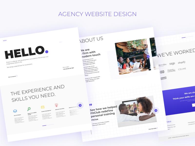 Agency Website Template nigeria design landing page figma africa