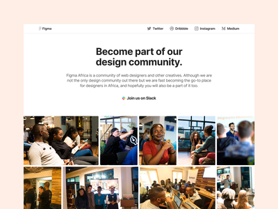 The Figma Africa website education design education community design landing page nigeria africa figma