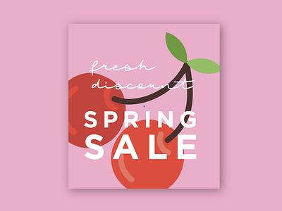 Fresh Sale color poster brand branding visual art visual design visual vector