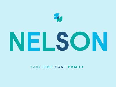Nelson - San Serif Family free font design fontself font