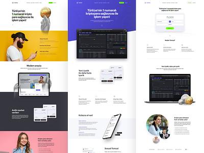 Tomya.com-Landing Page Series minimal ui sketch exchange business branding investment blockchain cryptocurrency landingpage