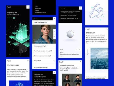 Pupil – Mobile Web Layouts website featured theme isometric web iphone responsive flat capture property realestate london spatial ui trending startup layout mobileweb