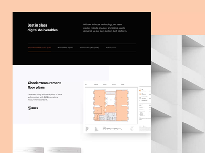 Stak - Commercial Property Page corporate homepage real estate property londong responsive interface minimal trending ui architecture commercial landing