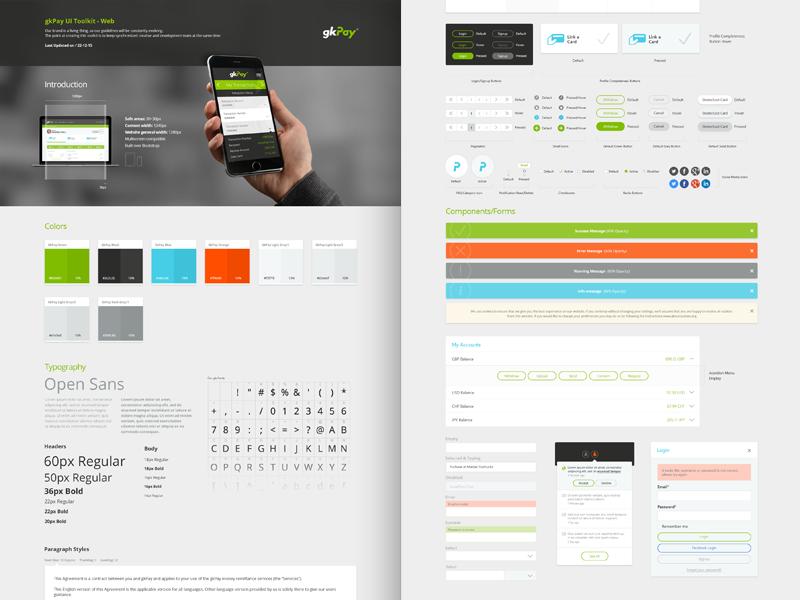 gkPay UI Toolkit-Web by Emrah Kara on Dribbble
